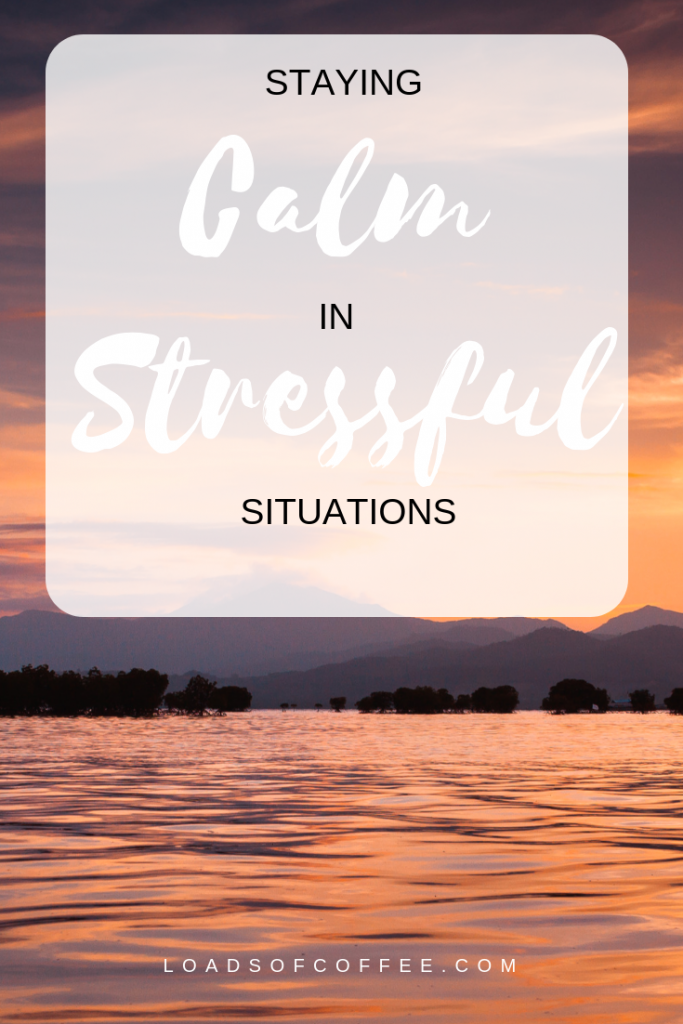 Staying calm in stressful situations. Sunset beach